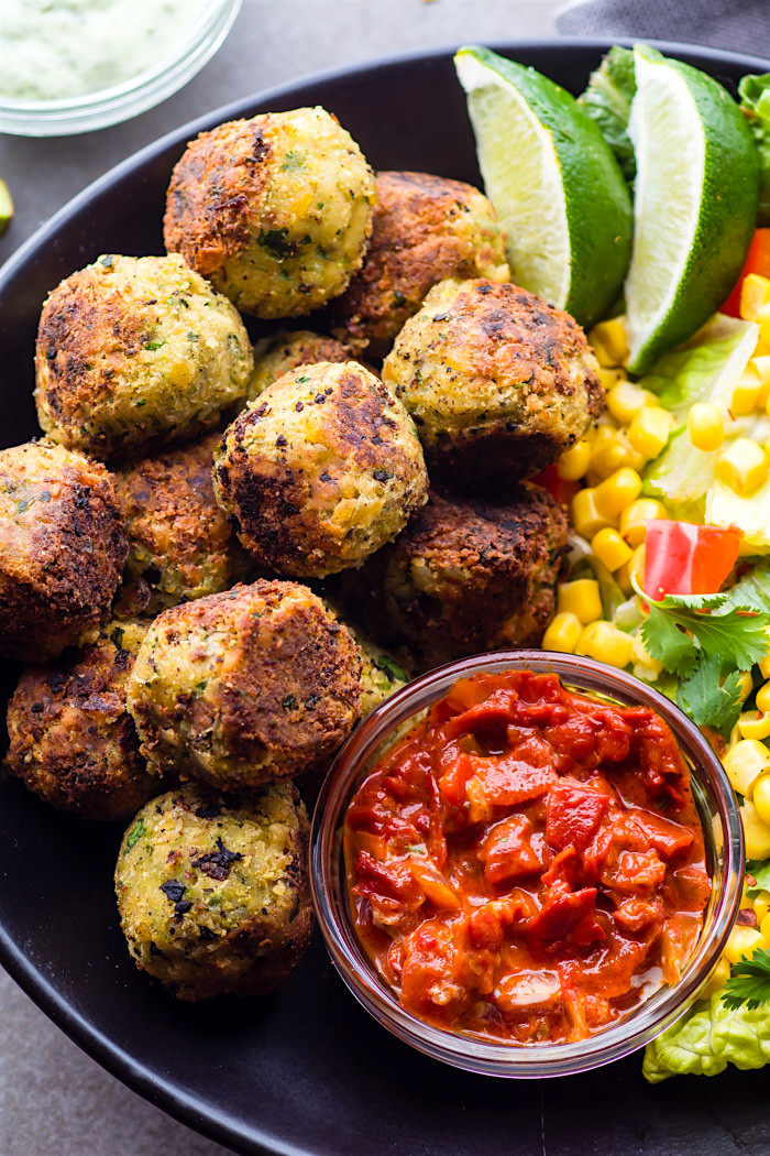 Healthy Mexican Appetizers  Easy Mexican Vegan Falafel Bites Gluten Free