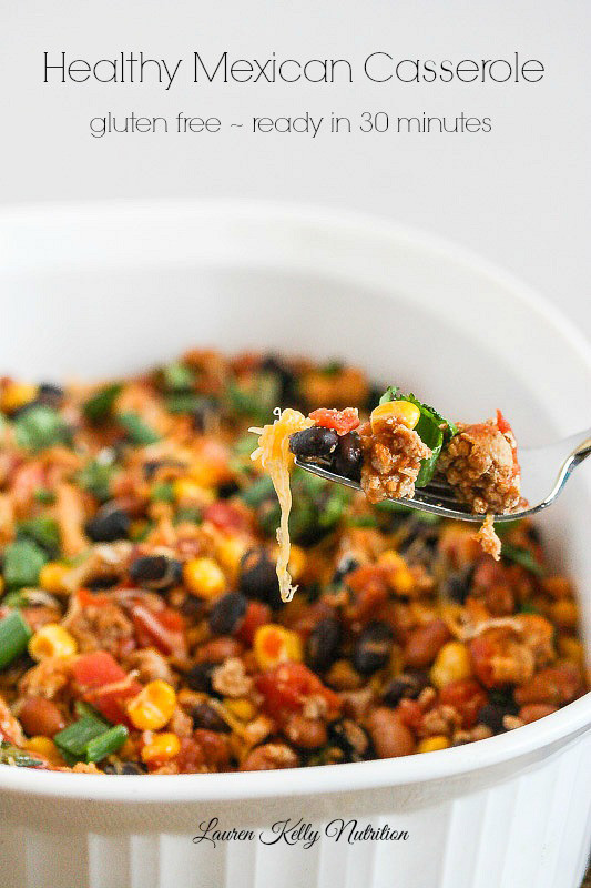 Healthy Mexican Casserole Recipe  Healthy Weekly Meal Plan – 4 23 16 Cook Nourish Bliss