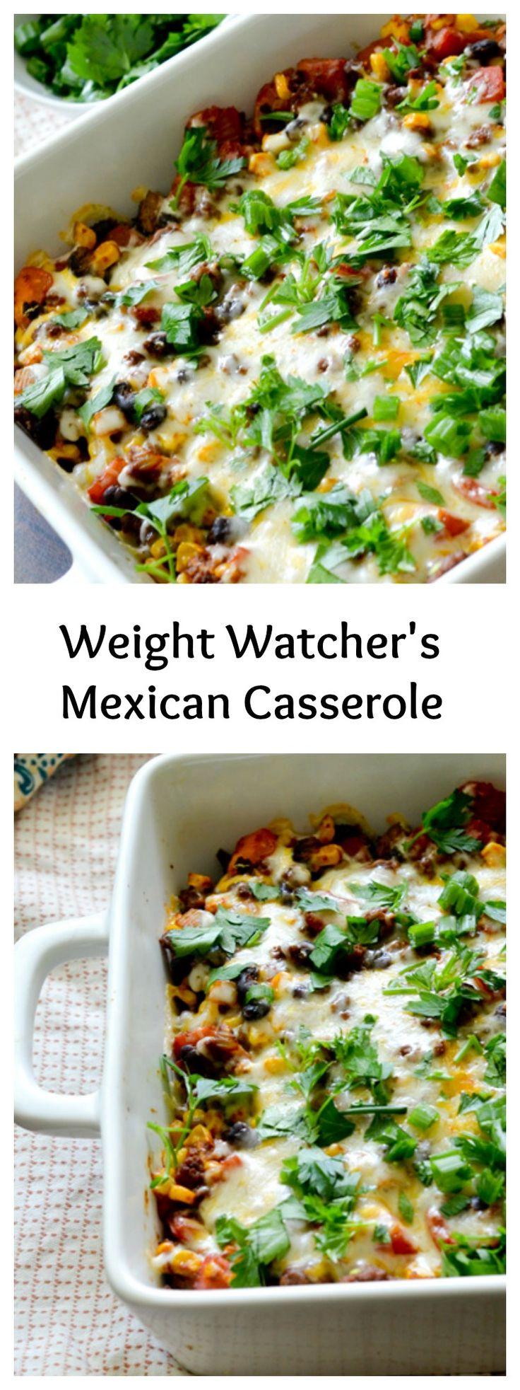 Healthy Mexican Casserole Recipe  HEALTYFOOD Diet to lose weight Weight Watcher s