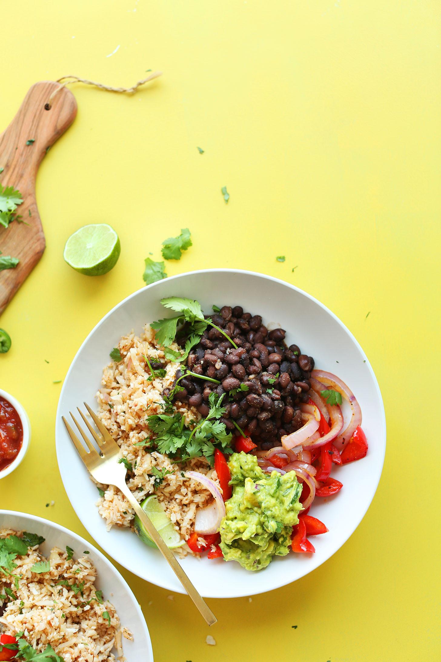 Healthy Mexican Rice Bowl Recipes  Cauliflower Rice Burrito Bowls