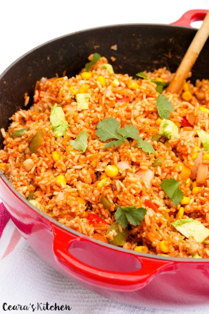 Healthy Mexican Rice Recipe  Easy e Pot Mexican Rice Vegan Gluten Free