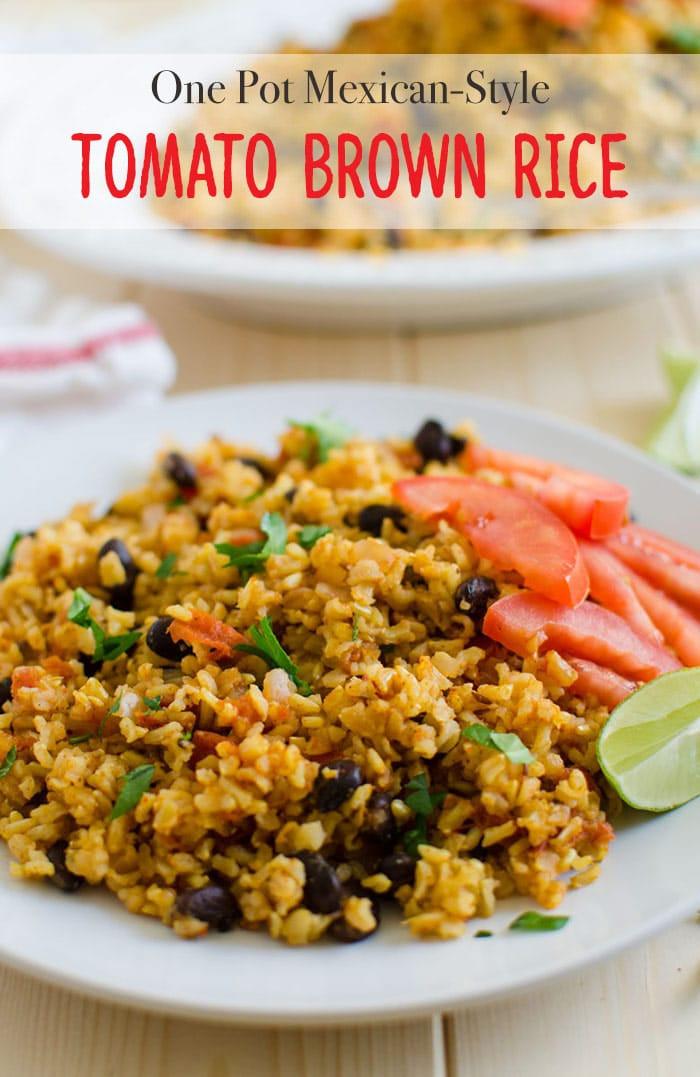 Healthy Mexican Rice Recipe  Mexican Brown Rice Recipe A e Pot Healthy Meal