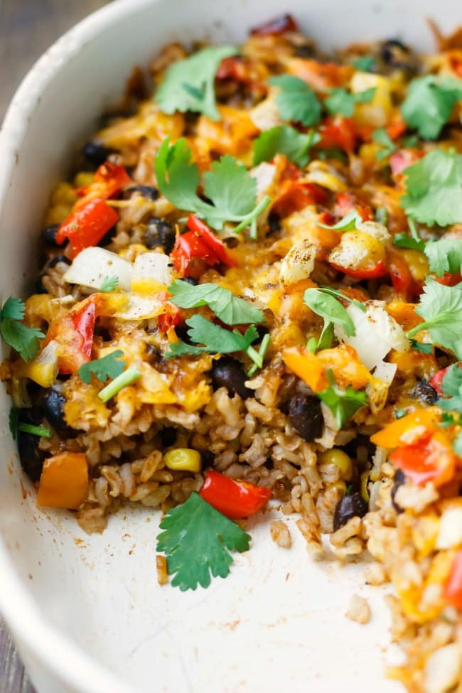 Healthy Mexican Rice Recipe  mexican rice bake
