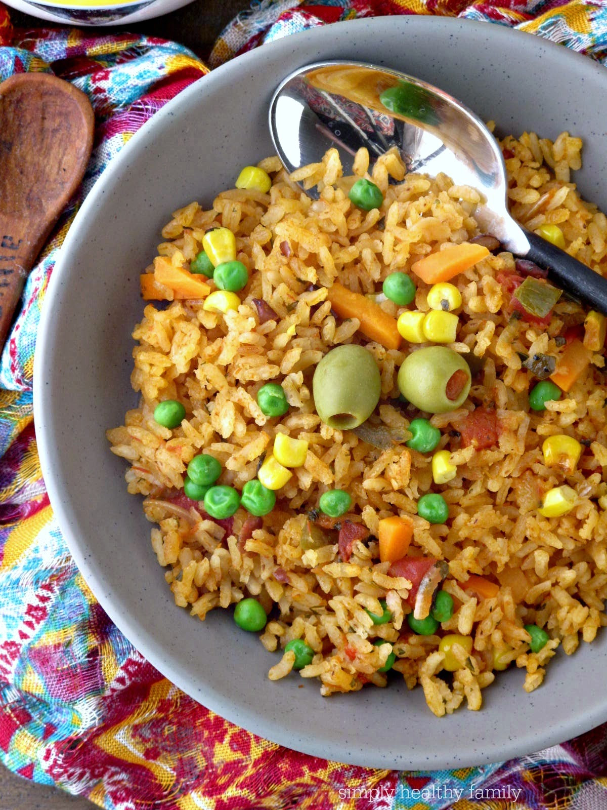 Healthy Mexican Rice Recipe  Simply Healthy Family Authentic Spanish Rice Recipe