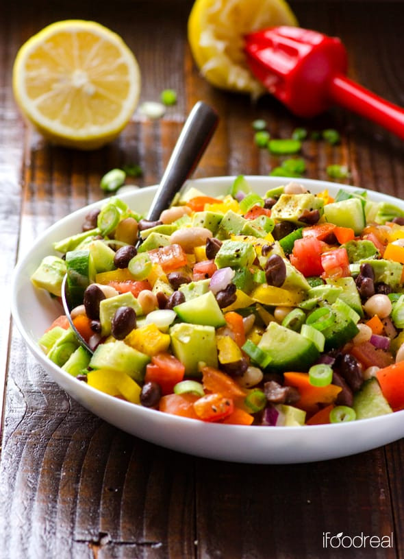 Healthy Mexican Salad Recipes  Mexican Bean Salad iFOODreal Healthy Family Recipes