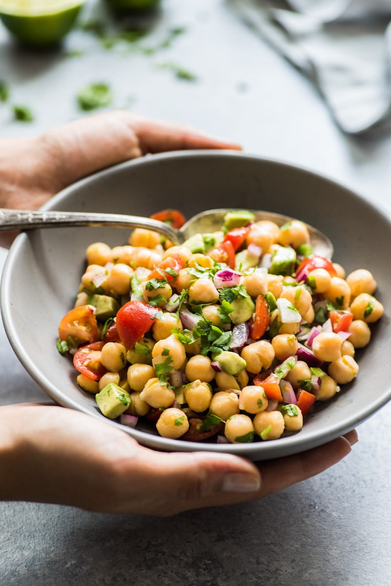 Healthy Mexican Salad Recipes  Mexican Chickpea Salad Isabel Eats Easy Mexican Recipes