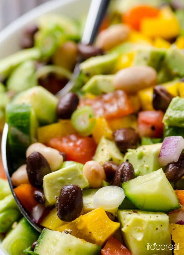 Healthy Mexican Salad Recipes  Mexican Bean Salad Recipe iFOODreal Healthy Family Recipes