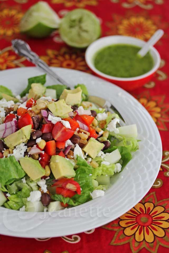 Healthy Mexican Salad Recipes  Mexican Chopped Salad with Lime Cilantro Dressing