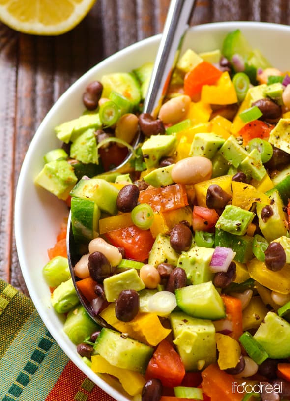 Healthy Mexican Salad Recipes  Mexican Bean Salad Recipe iFOODreal