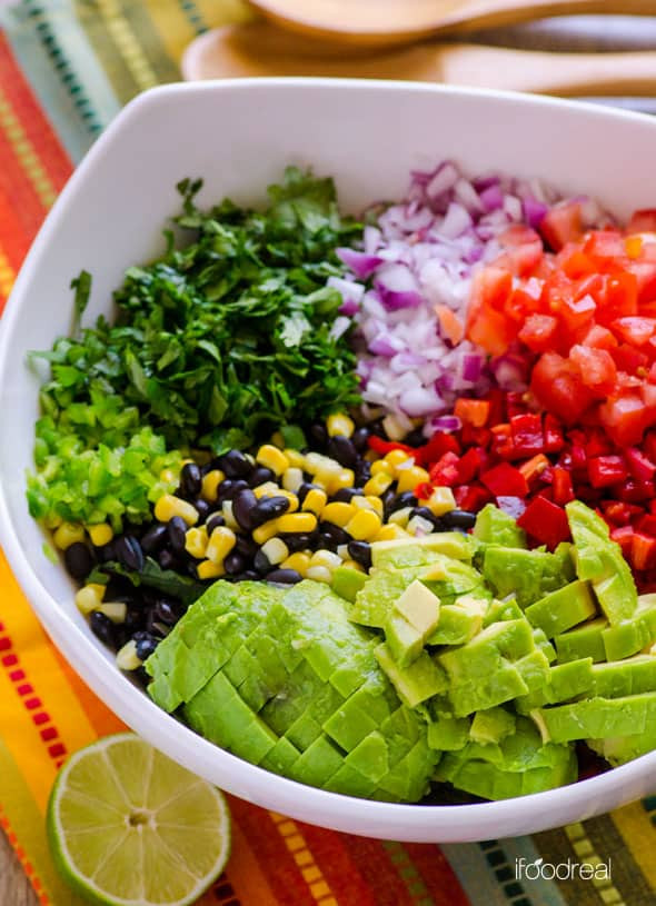 Healthy Mexican Salad Recipes  Creamy Mexican Kale Salad iFOODreal Healthy Family Recipes