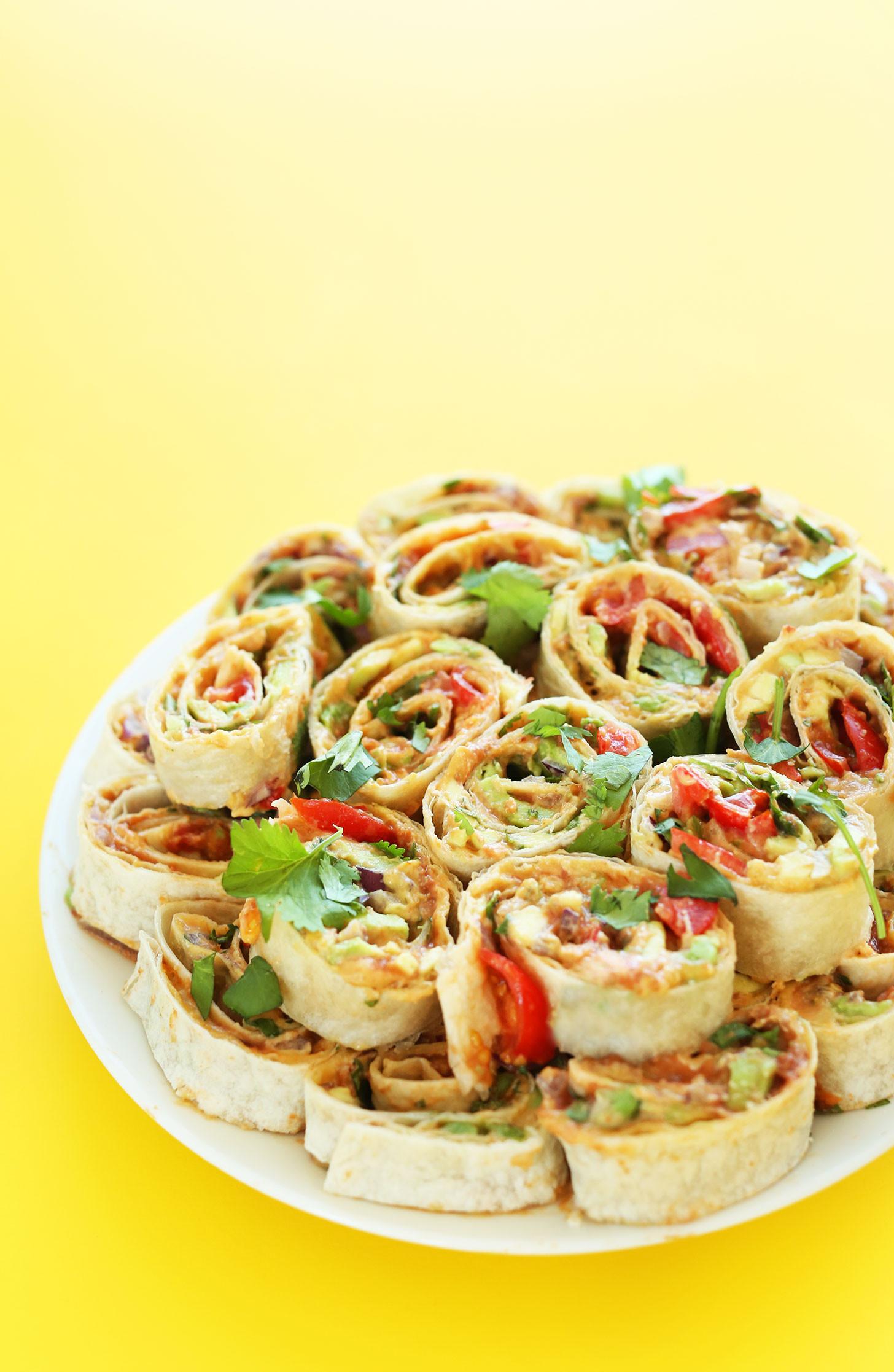 Healthy Mexican Snacks  Mexican Pinwheels