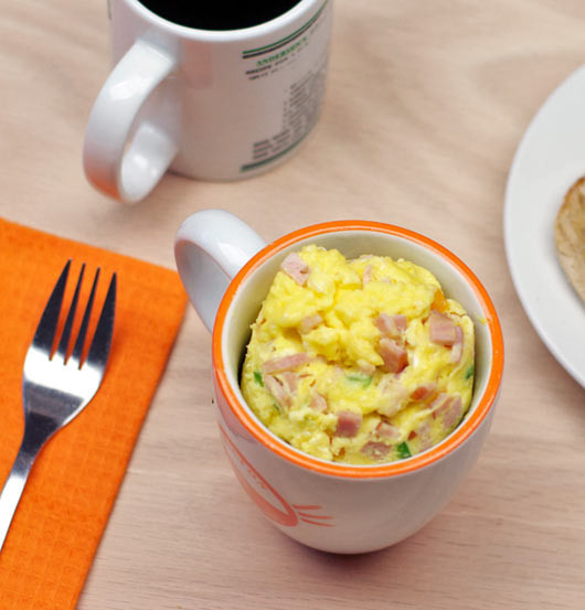 Healthy Microwave Breakfast  Microwave Farmers Omelet In A Cup Recipe