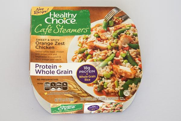 Healthy Microwave Dinners  Healthy Choice Sweet and Spicy Orange Zest Chicken
