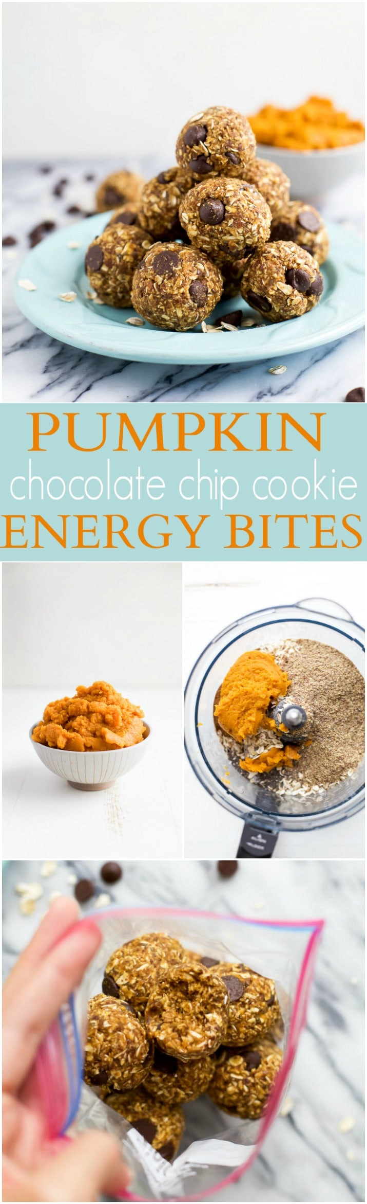 Healthy Midday Snacks  Pumpkin Chocolate Chip Cookie Energy Bites