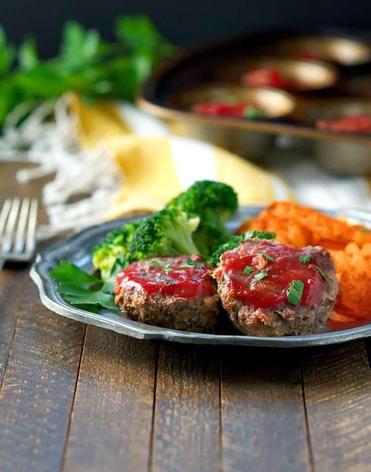 Healthy Mini Meatloaf  Lightened Up Mini Meatloaf The Seasoned Mom