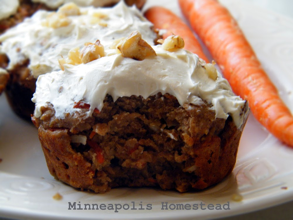 Healthy Moist Carrot Cake Recipe  Moist and Healthy Carrot Cake Muffins with Cream Cheese