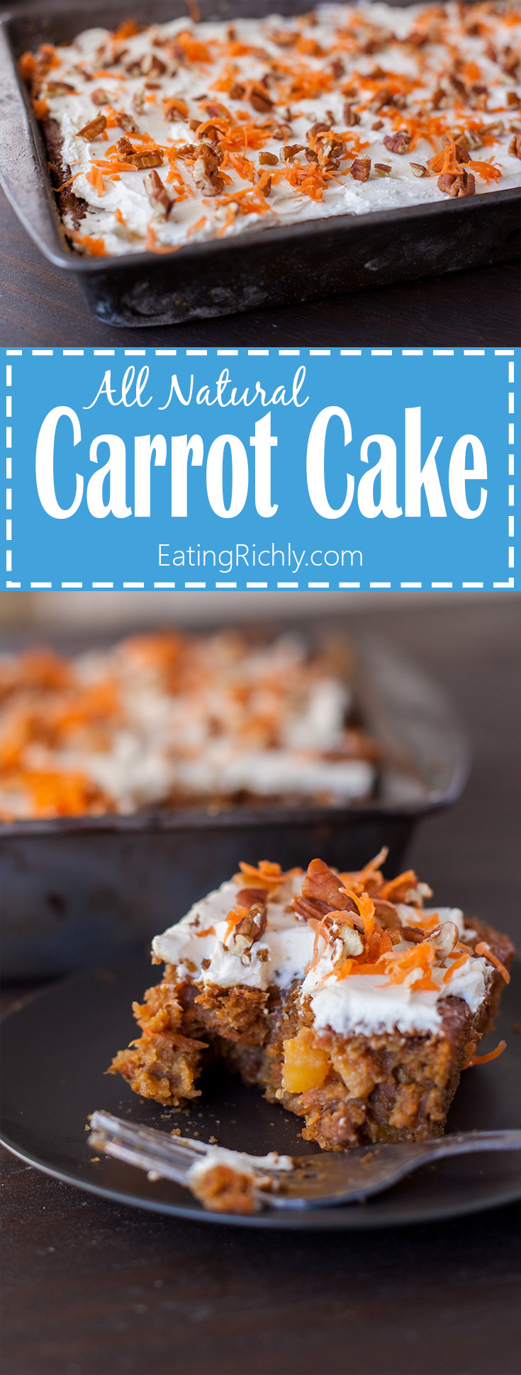 Healthy Moist Carrot Cake Recipe  Eating richly even when you re broke