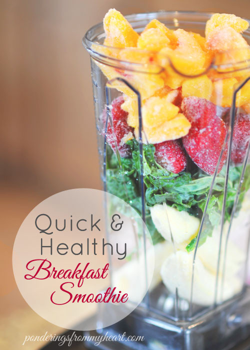 Healthy Morning Smoothies  Quick & Healthy Breakfast Smoothie