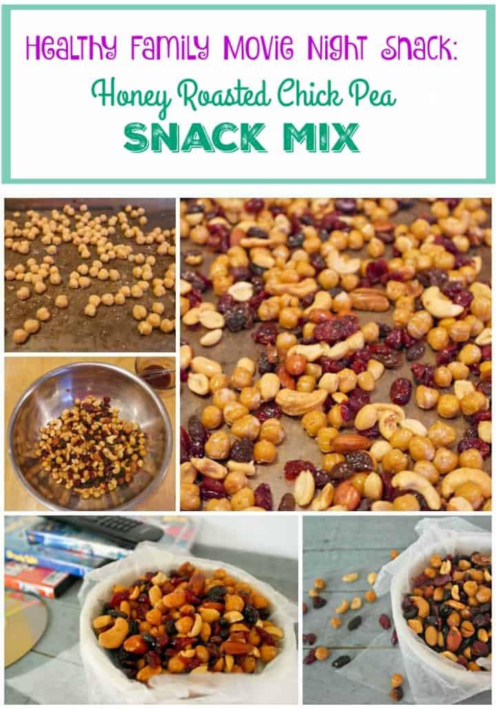 Healthy Movie Snacks  Honey Roasted Chick Peas Healthy Family Movie Night Snack