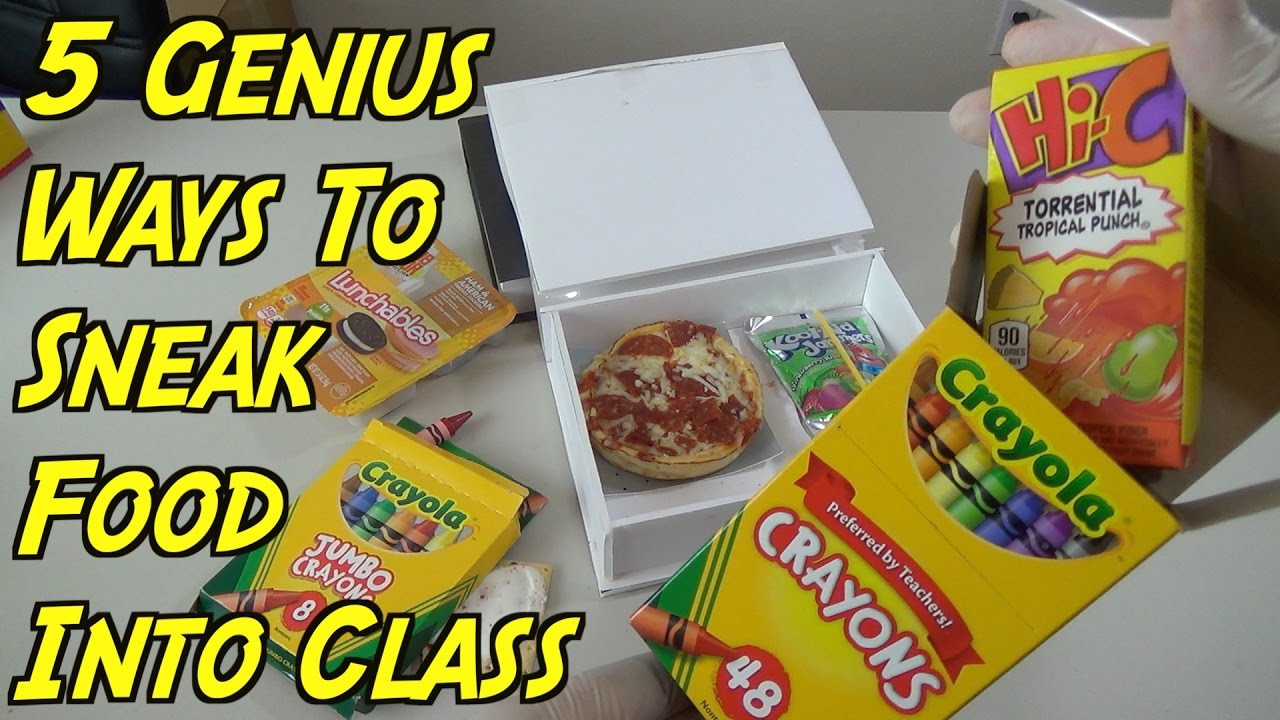 Healthy Movie Snacks To Sneak In  5 Genius Ways To Sneak Food Into Class When You re Hungry