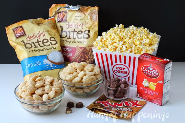 Healthy Movie Theater Snacks  Movie Night Snack Peanut Butter Popcorn Speckled with
