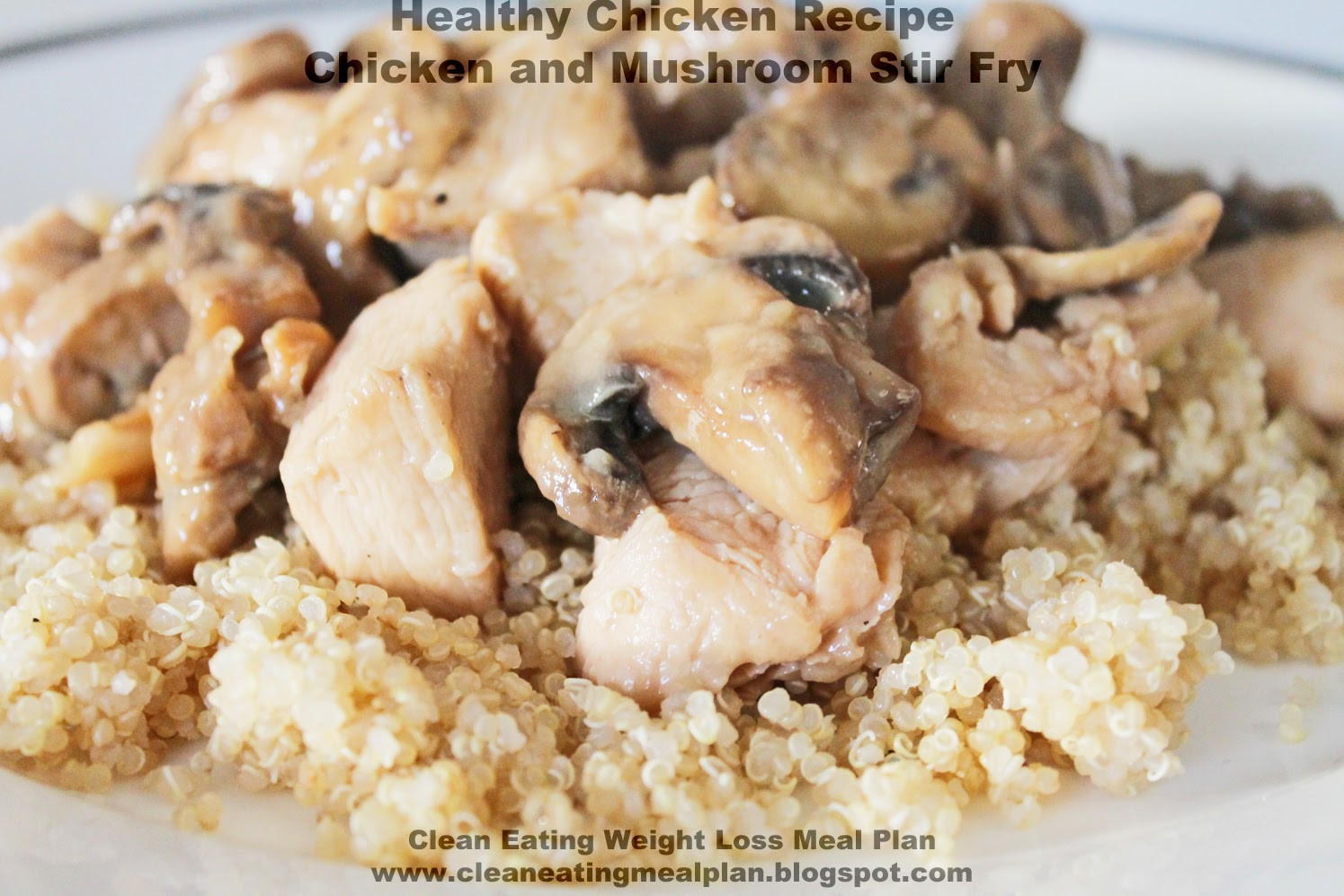 Healthy Mushroom Recipes For Weight Loss  Healthy Chicken Recipe Chicken and Mushroom Stir Fry