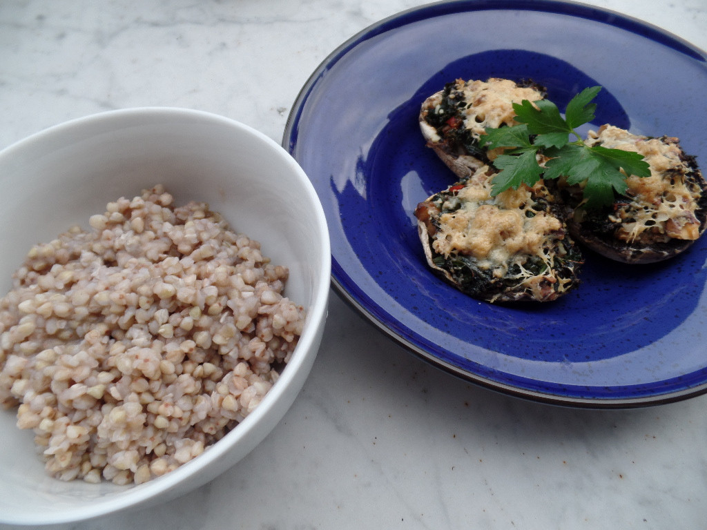 Healthy Mushroom Recipes For Weight Loss  Healthy stuffed mushrooms & buckwheat Cookwise