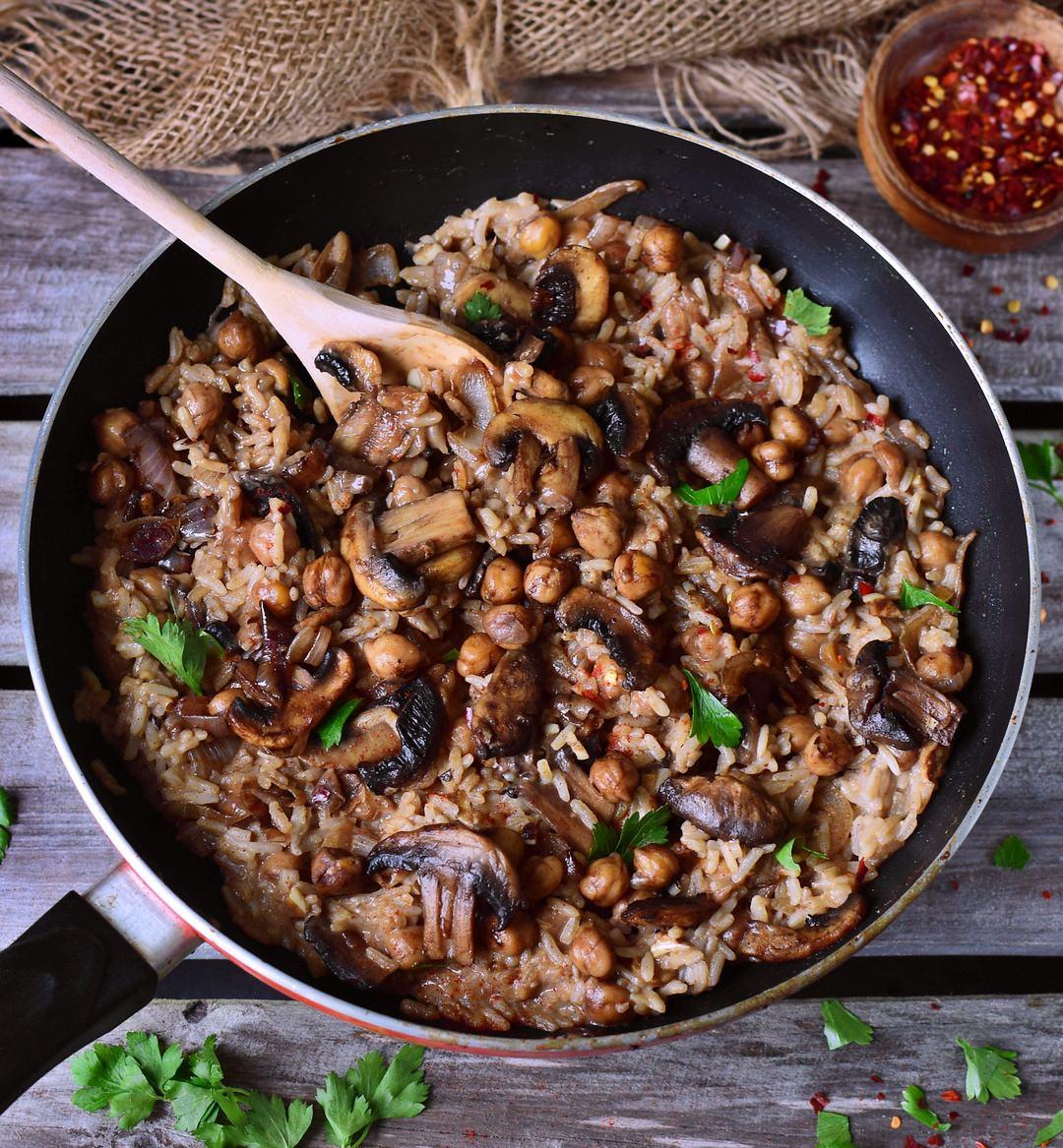 Healthy Mushroom Risotto  Vegan mushroom risotto