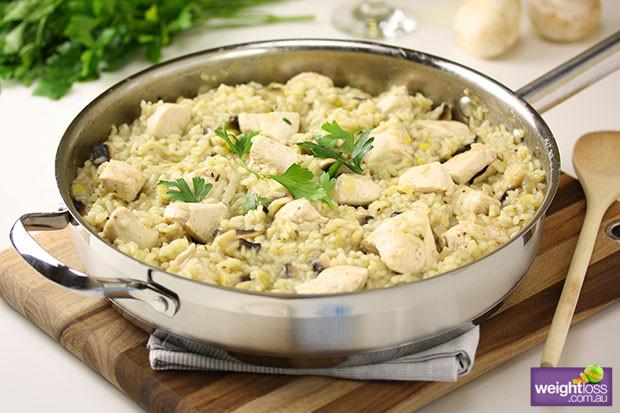 Healthy Mushroom Risotto  Chicken & Mushroom Risotto