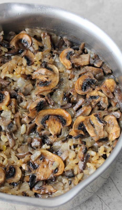 Healthy Mushroom Side Dish  Mushroom Rice Pilaf Savvy Naturalista