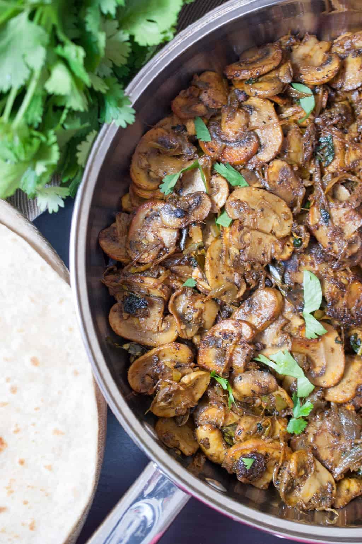 Healthy Mushroom Side Dish  Mushroom masala stir fry Indian Style Recipe