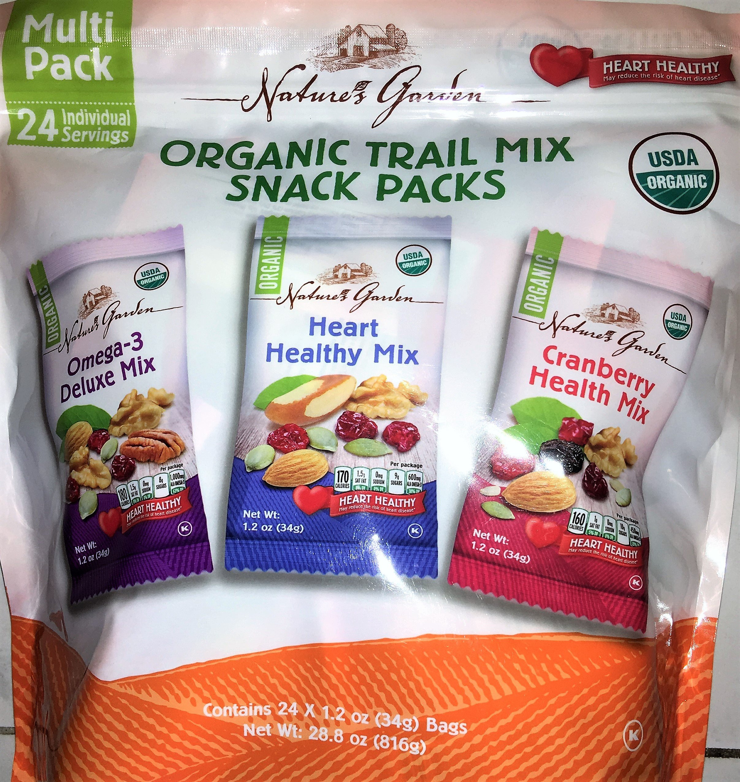 Healthy Natural Snacks  Amazon 180 Snacks Nut Crunch Variety Pack 21