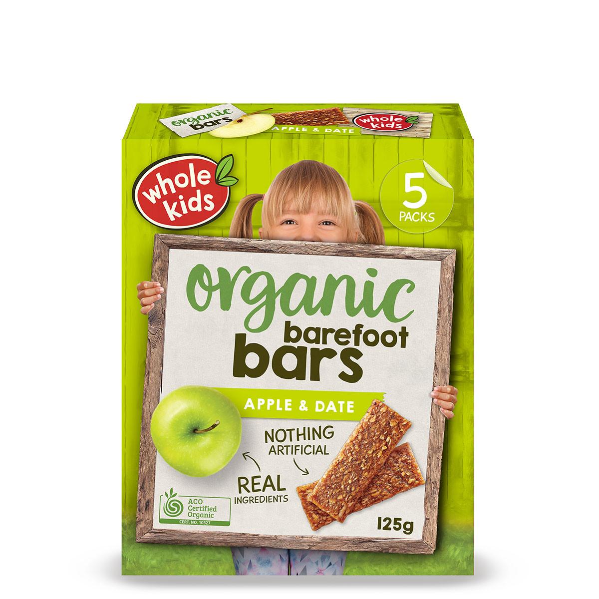 Healthy Natural Snacks  Whole Kids Organic Barefoot Bar
