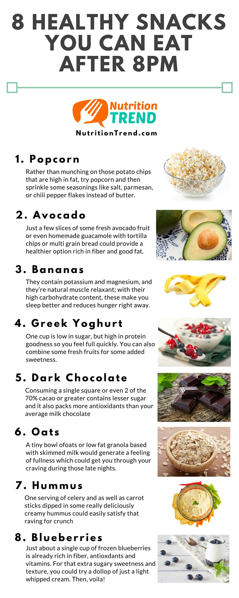 Healthy Night Snacks  8 Healthy Snacks You Can Eat After 8pm Nutrition Trend