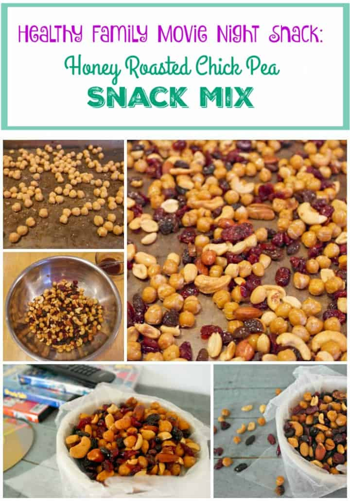 Healthy Nighttime Snacks  Honey Roasted Chick Peas Healthy Family Movie Night Snack