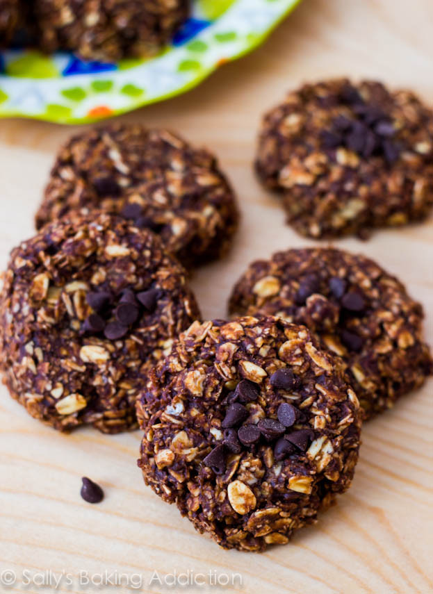 Healthy No Bake Banana Oatmeal Cookies  Skinny Chocolate Peanut Butter No Bake Cookies Sallys