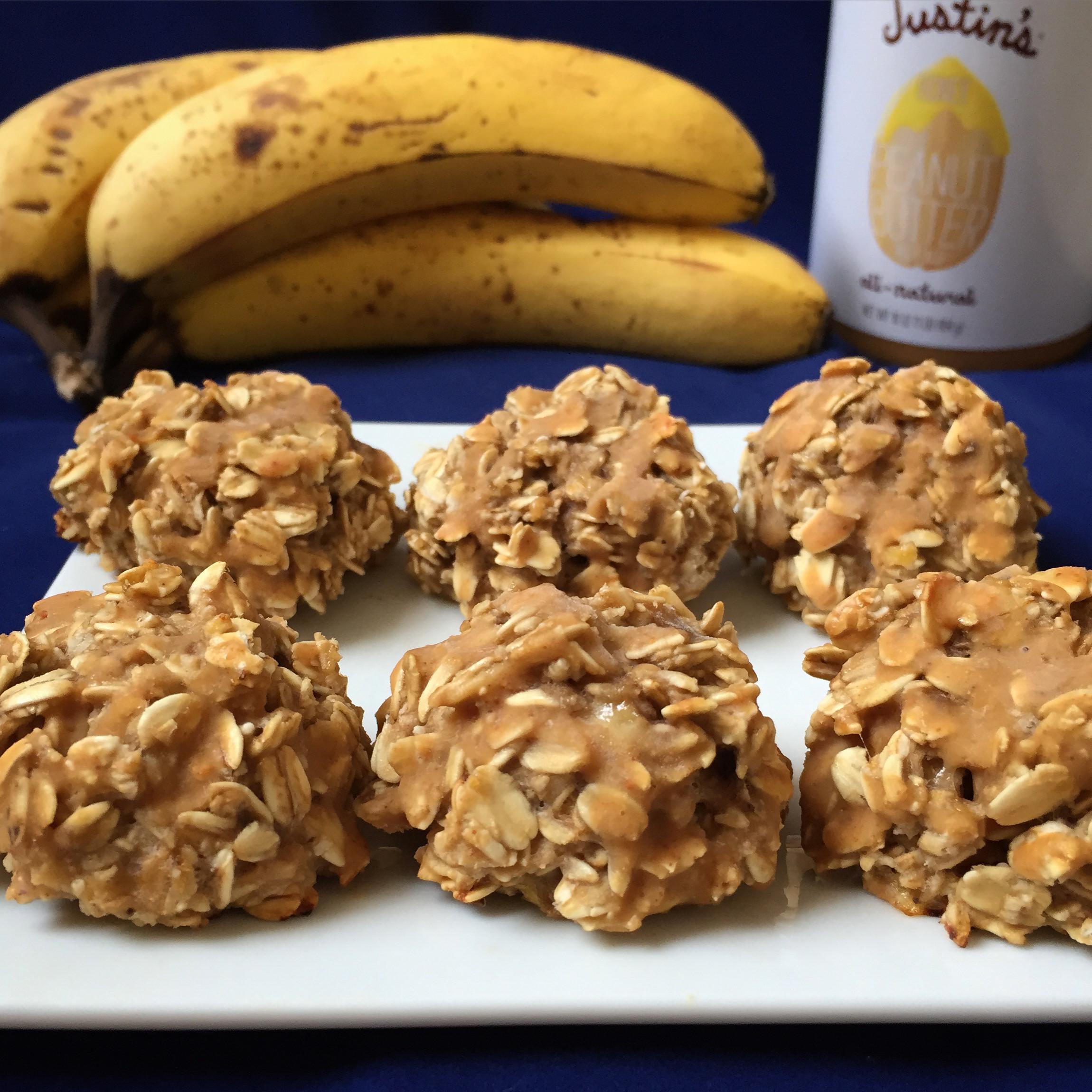 Healthy No Bake Banana Oatmeal Cookies  no bake peanut butter banana oatmeal cookies