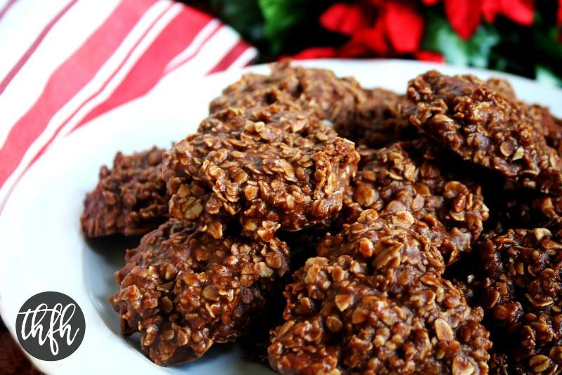 Healthy No Bake Chocolate Oatmeal Cookies  Gluten Free Vegan Chocolate Peanut Butter Oatmeal No Bake