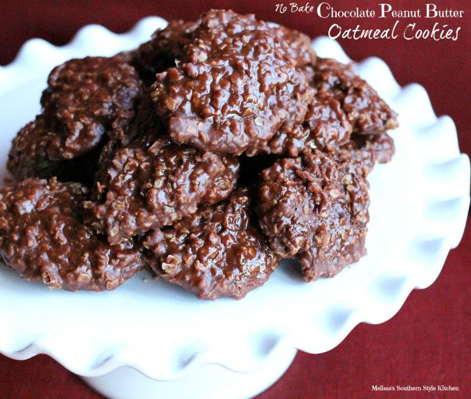 Healthy No Bake Chocolate Peanut Butter Oatmeal Cookies  No Bake Chocolate Peanut Butter Oatmeal Cookies