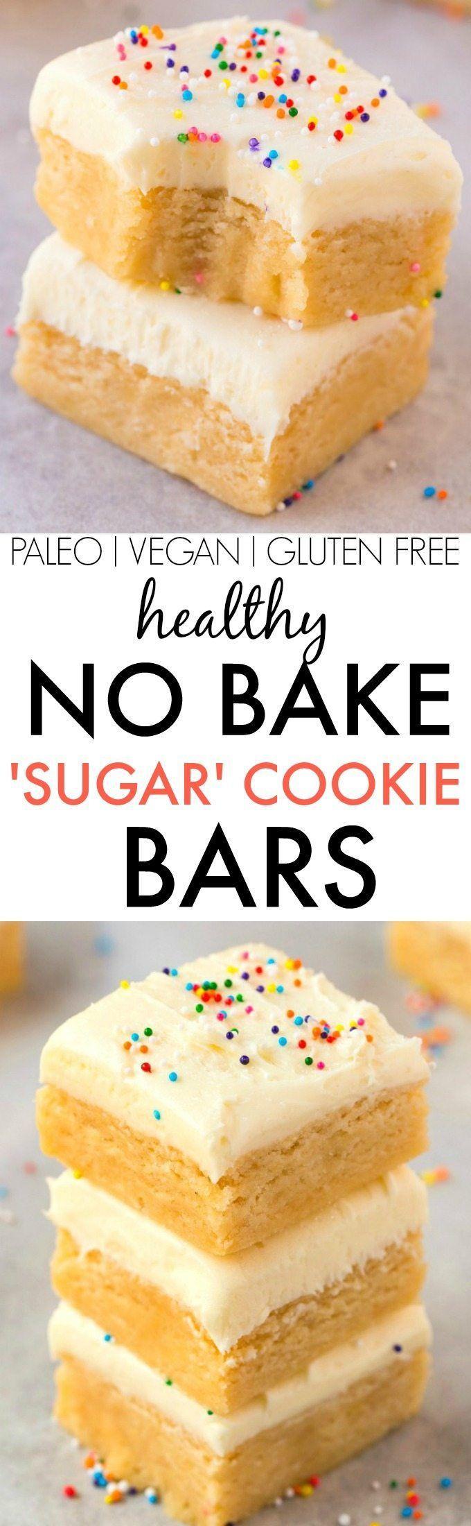 Healthy No Bake Cookies Sugar Free  No Bake Sugar Cookie Bars V GF Paleo Secretly