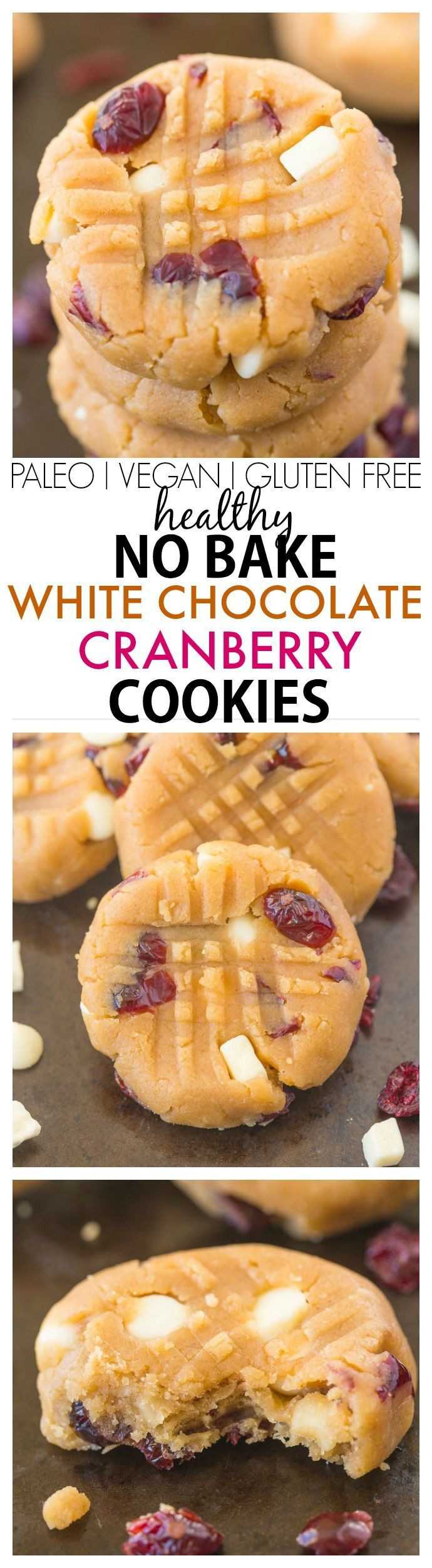 Healthy No Bake Cookies Sugar Free  Healthy No Bake White Chocolate Cranberry Cookies NO