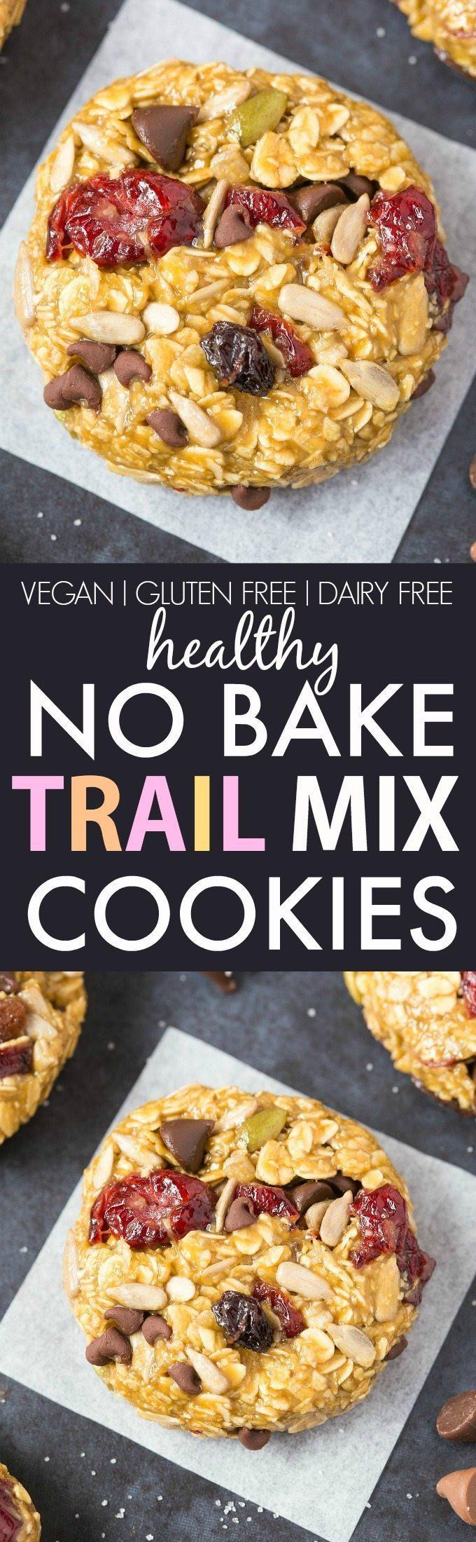 Healthy No Bake Cookies Sugar Free  Healthy No Bake Trail Mix Cookies Vegan Gluten Free