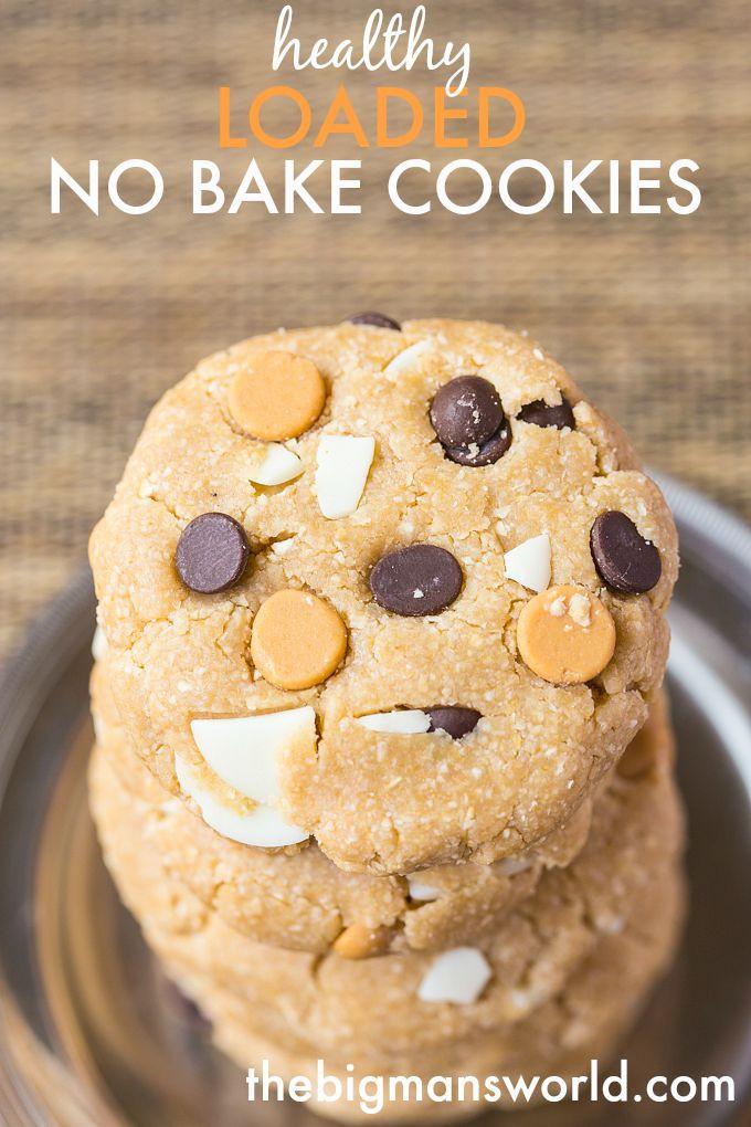 Healthy No Bake Cookies  Loaded Healthy No Bake Cookies