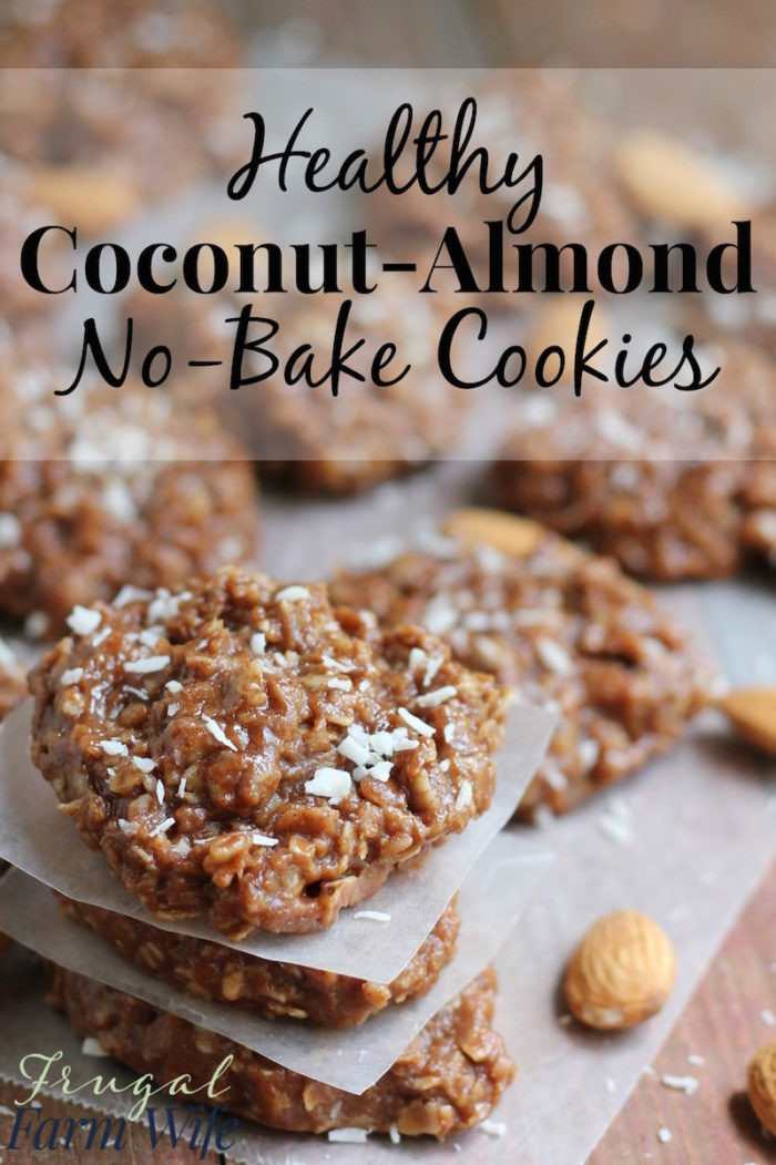 Healthy No Bake Cookies  Healthy No Bake Almond Coconut Cookies