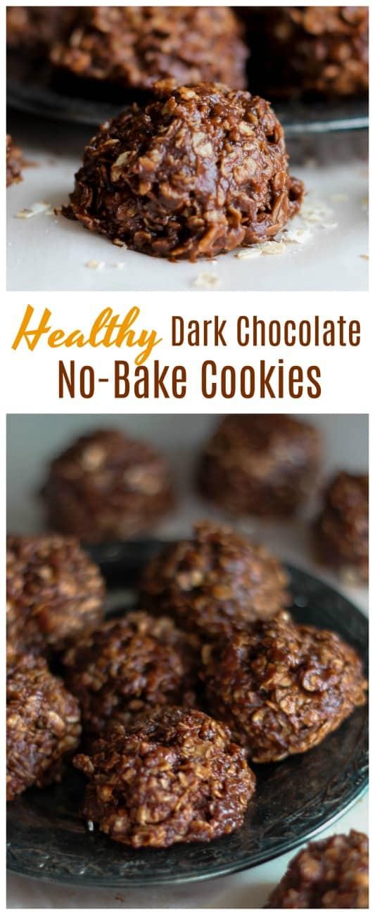 Healthy No Bake Cookies With Banana  Healthy Dark Chocolate No Bake Cookies Optional Gluten