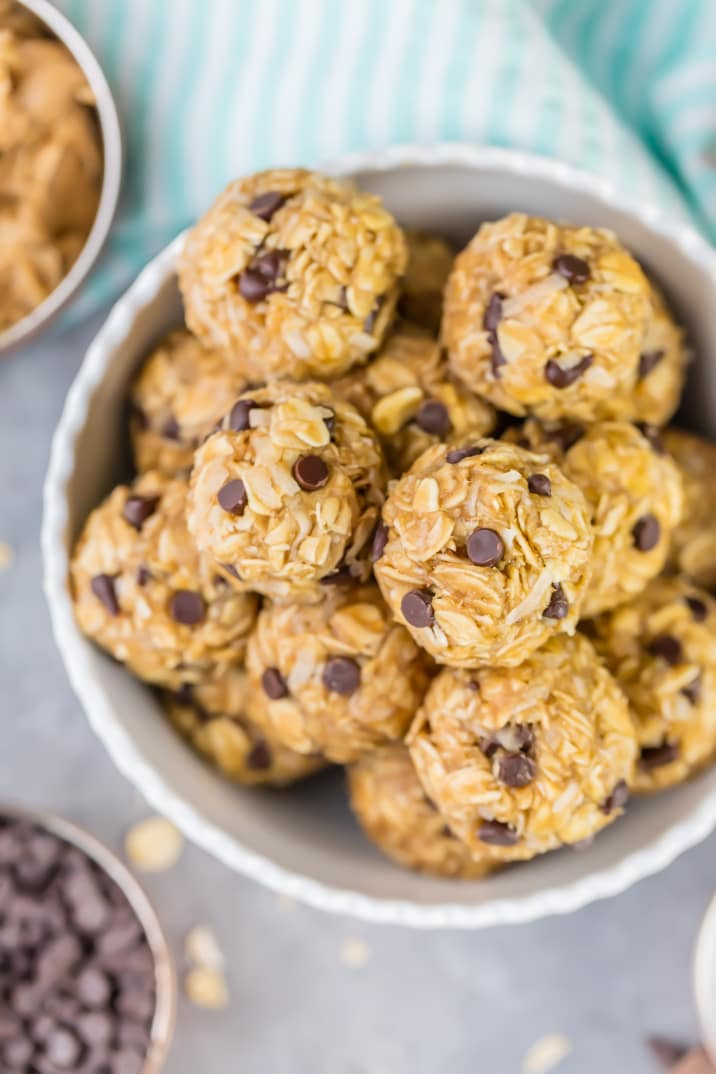 Healthy No Bake Cookies With Banana  Peanut Butter Banana No Bake Energy Bites