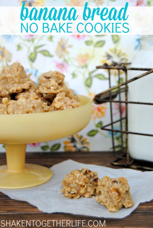 Healthy No Bake Cookies With Banana  Banana Bread No Bake Cookies