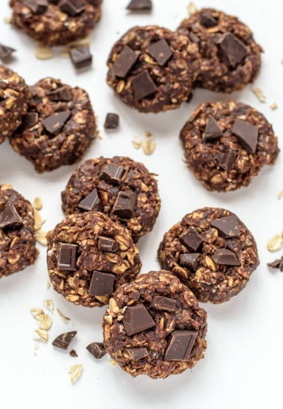 Healthy No Bake Cookies With Banana  Healthy No Bake Cookies with Chocolate and Peanut Butter
