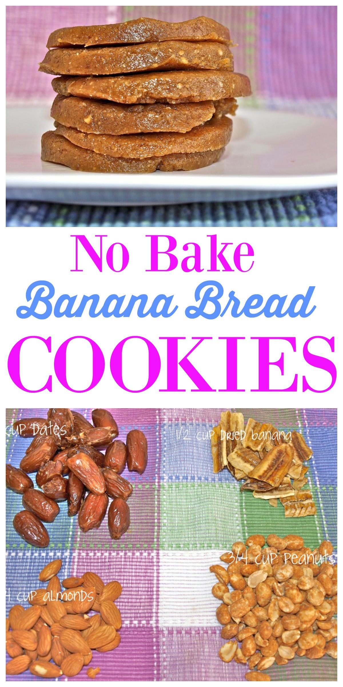 Healthy No Bake Cookies With Banana  Raw Banana Bread Cookies Happy Healthy Mama