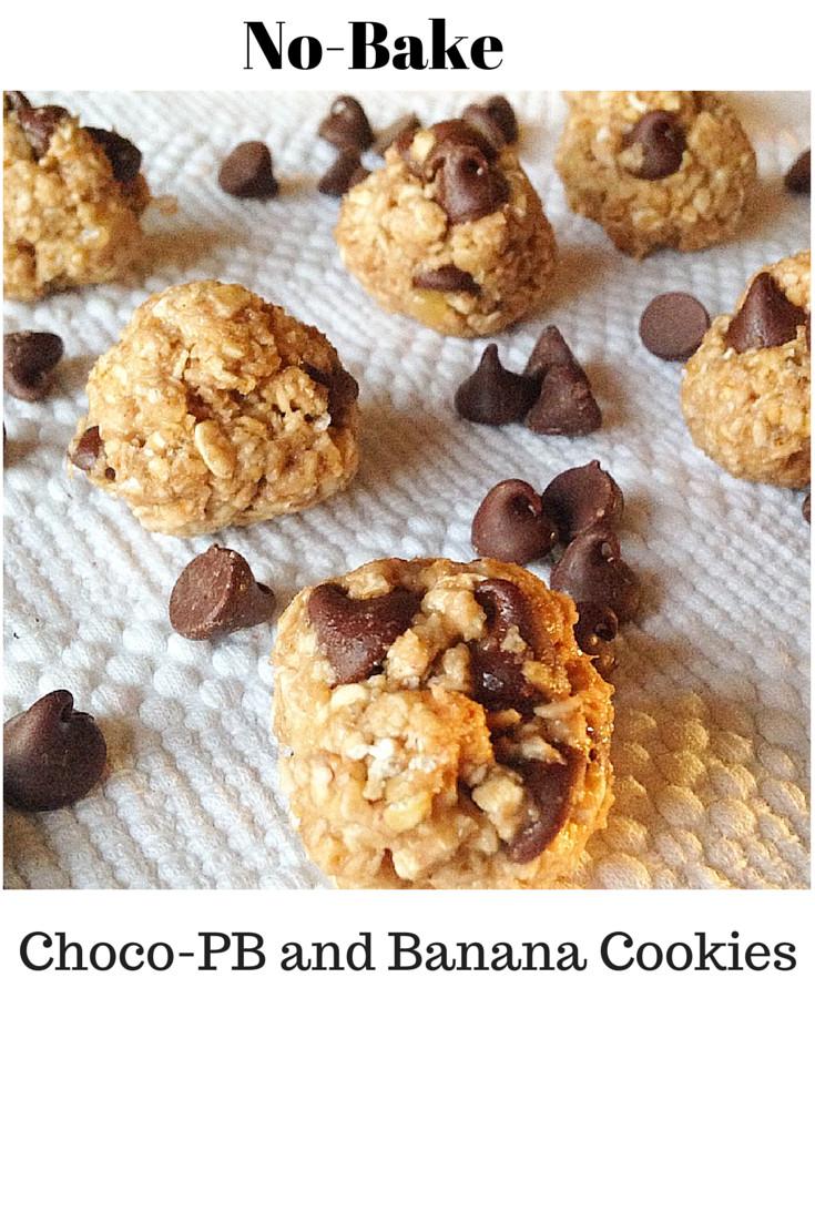 Healthy No Bake Cookies With Banana  No Bake Peanut Butter Banana Chocolate Chip Cookies